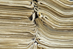 Two piles of old newspapers Royalty Free Stock Photography