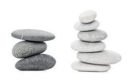Two Piles of sea stones Stock Image