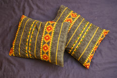 Two Pillows From Above Stock Photography