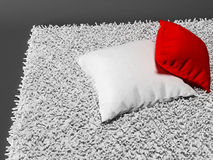 Two pillows on the carpet Stock Image