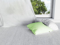 Two pillows near the window Stock Image