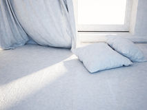 Two pillows near the window Royalty Free Stock Image