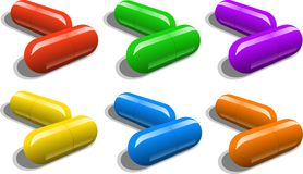 Two Pills Stock Photography