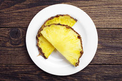 Two pineapple slices Royalty Free Stock Photography