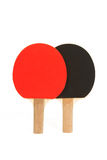 Two Ping Pong Paddles with White Background Royalty Free Stock Photos