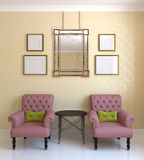 Two pink armchairs. Stock Photography