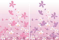 Two pink floral design Stock Image