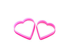 Two pink hearts Royalty Free Stock Images