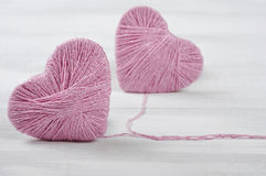 Two pink hearts Royalty Free Stock Photography