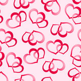 Two pink hearts Stock Image