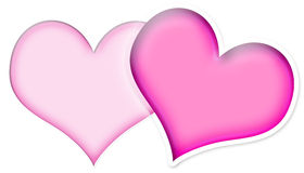 Two Pink Hearts royalty free illustration