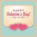 Two pink hearts Stock Photography