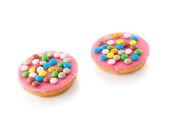 Two pink icing cakes Royalty Free Stock Photography
