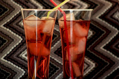 Two pink lemonade Royalty Free Stock Images