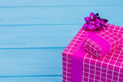 Two pink present boxes. royalty free stock photography