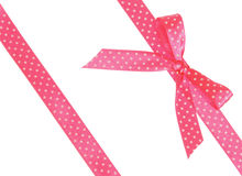 Two pink ribbons with bow Stock Photography