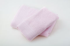 Two pink towels Royalty Free Stock Images