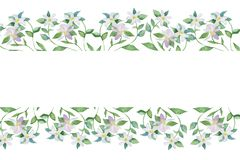 Two pink watercolor butterflies isolated on white background stock illustration