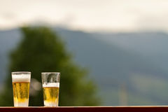 Two Pints of Beer Royalty Free Stock Images