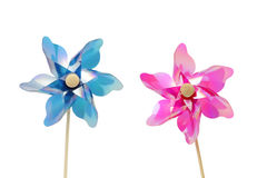 Two pinwheel toys Stock Photography