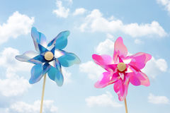 Two pinwheel toys Stock Image
