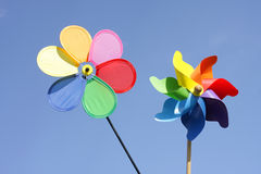 Two pinwheels Royalty Free Stock Image