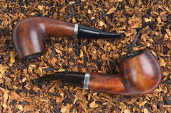 Two pipe and tobacco Royalty Free Stock Image