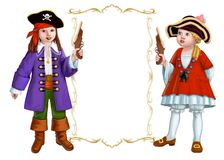 Two pirates royalty free stock images