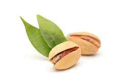 Two Pistachio Nuts With Shell Royalty Free Stock Photos