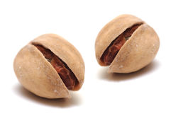 Two pistachios Royalty Free Stock Images