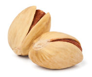 Two pistachios Stock Images