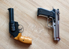 Two pistols Royalty Free Stock Images