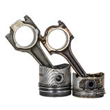 Two pistons and two connecting rods Royalty Free Stock Images