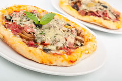 Two Pizzas Close up Royalty Free Stock Photography