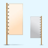 Two Placards with shadows Royalty Free Stock Photo