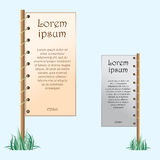 Two Placards with text Royalty Free Stock Photo