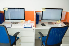 Two places of work Royalty Free Stock Photo