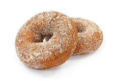 Two Plain Sugar Cake Doughnuts Royalty Free Stock Image