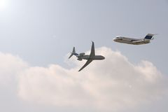 Two planes royalty free stock photography
