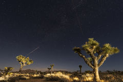 Two planes and a falling star Stock Image