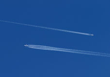 Two planes in the sky Stock Photo