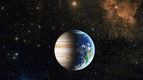 Two planet joined together Stock Photography