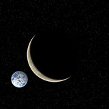 Two planets Stock Images