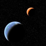 Two planets Stock Photo