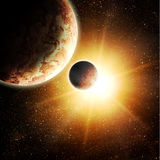 Two planets Royalty Free Stock Photo