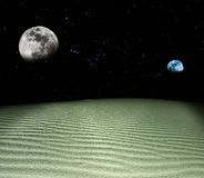Two planets at the night Stock Photography