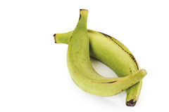 Two plantains, close-up Royalty Free Stock Photo