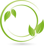 Two plants, leaves, wellness and naturopathic logo Stock Photography