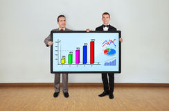 Two and plasma with chart Stock Images