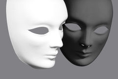 Two plaster Venetian masks Stock Image